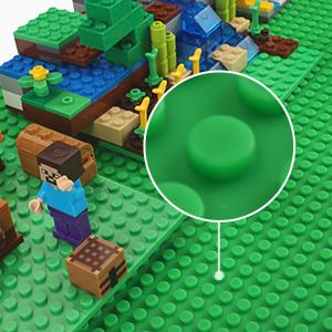 Grün Grundplatte Fansteck für Lego DUPLO Sillikon Bauplatte für Bausteine Groß