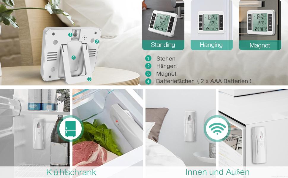 Kühlschrank Alarm Offene Tür : Oria kühlschrank thermometer gefrierschrank amazon elektronik