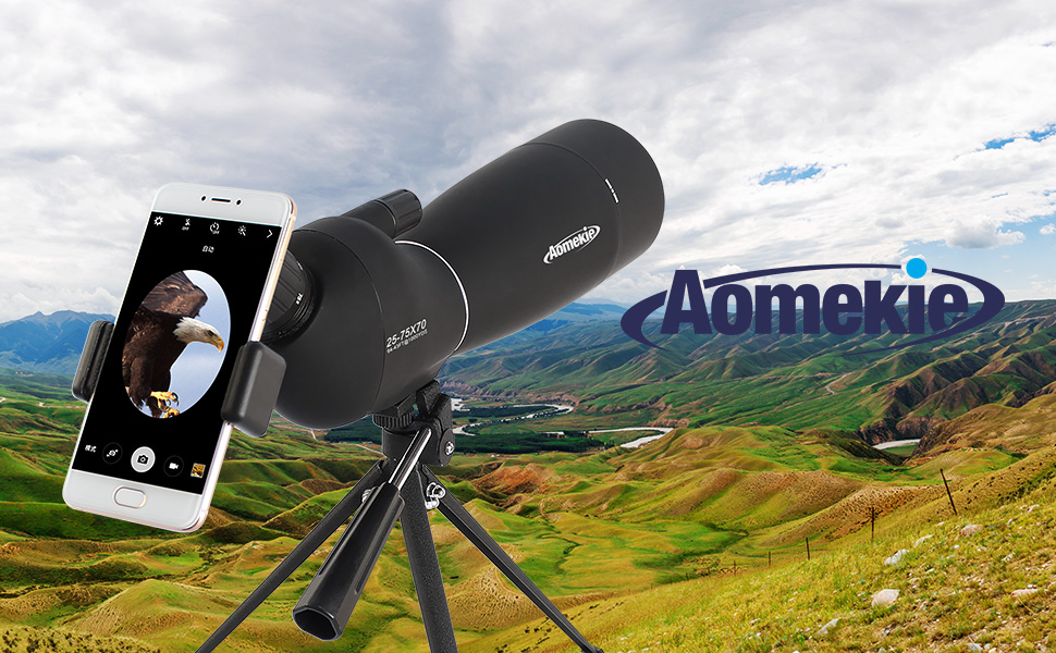 Aomekie 25 75x70 spektiv sportschützen jagd mit: amazon.de: kamera