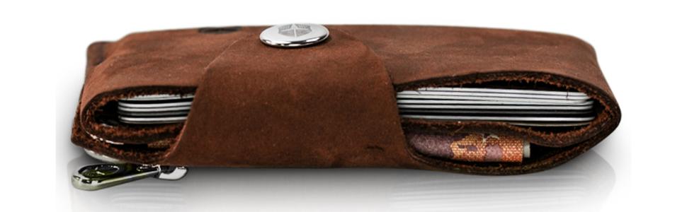 1fa916719795a Coinkeeper® Mini Geldbeutel aus exklusiv Echt-Leder - Geldbörse ...