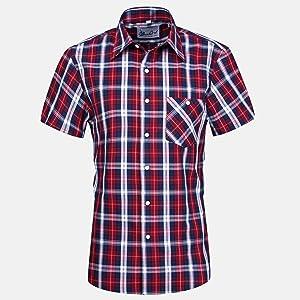 'banqert Hombre Camisa De Cuadros
