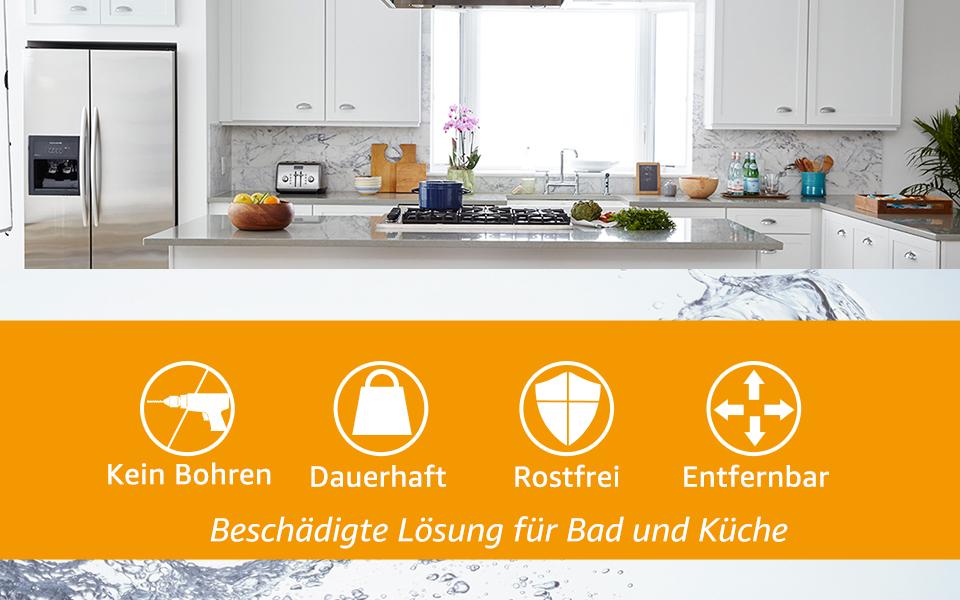 Maxhold Saugschraube Kuchenrollenhalter Befestigen Ohne Bohren