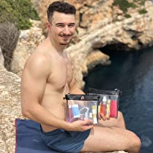 Reisekulturbeutel transparent,Urlaubszubehör für Flüssigkeiten, Reisetasche für unterwegs, Mallorca