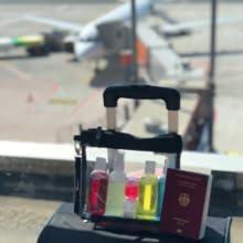 Kulturbeutel Flugzeug, Flughafen Handgepäck Flüssigkeiten, Transparenter Reisebeutel für Reisen