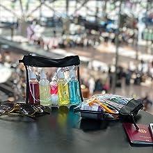 Kulturbeutel Flughafen, Kulturbeutel mit Liquid Flaschen, Reisekulturbeutel, Kulturtasche reise