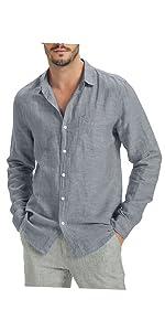 Herren 55% Leinenhemd Kragenloses 3 4 ärmel Streifen · Herren Lange Ärmel  Weißes 100% Leinen Hemden Shirt ... 00265ebbe2