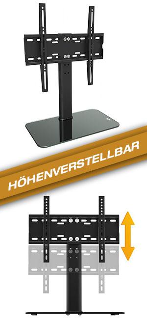 ricoo tv standfuss universal h henverstellbar elektronik. Black Bedroom Furniture Sets. Home Design Ideas