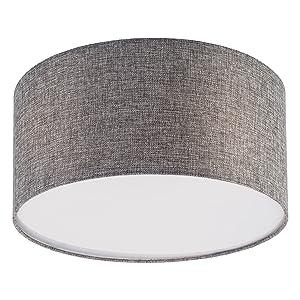 Deckenleuchte rund Deckenlampe weiß 3x LED Lampe E27 5W Stoff Textil SEBSON