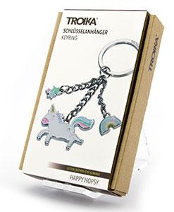Troika Schlüsselanhänger Schlüsselhalter Keyring Einhorn Happy Hopsy KR17-31  19