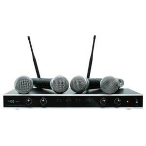 E-Lektron IU-4011 UHF wireless microphone set 4-fold