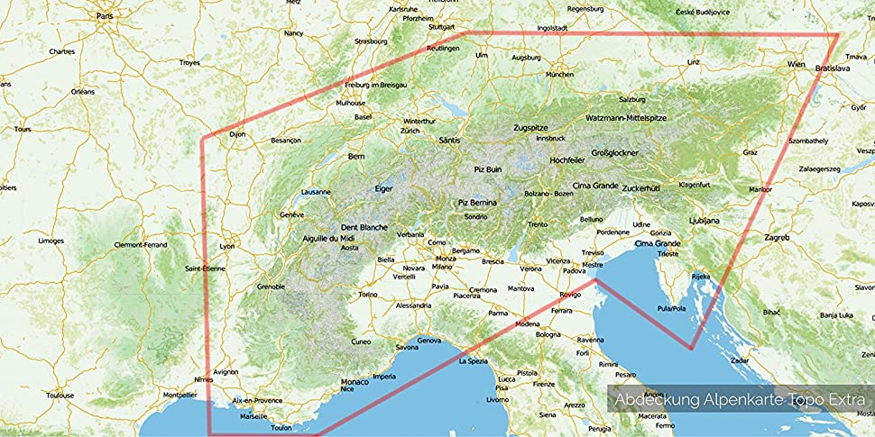 Alpen Garmin Karte Topo - 8 GB (Deutschland Schweiz