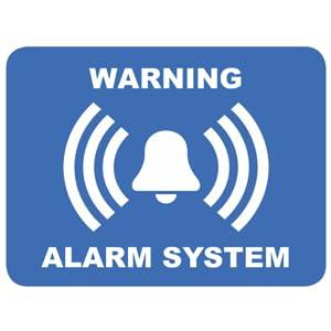Alarm Aufkleber Schutz