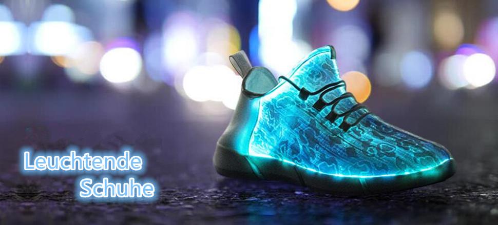 best website 2578a 04370 HUSK'SWARE Unisex Kinder Jungen Mädchen LED Schuhe mit USB Sportschuhe  Sneakers