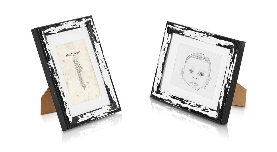 Bilderrahmen aus Echtholz 13x18 mit Glasscheibe - Shabby Chic - 1 ...