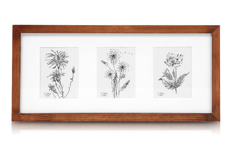 Classic by Casa Chic Echtholz 3er Bilderrahmen für 10x15 Bilder mit ...