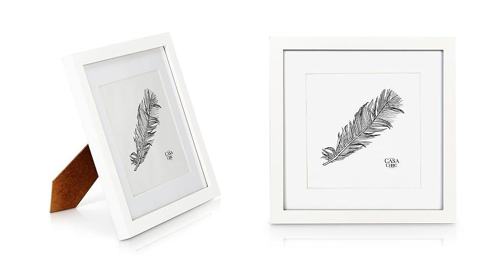 Quadratischer Bilderrahmen aus Echtholz - 25 x25 cm mit Glasscheibe ...