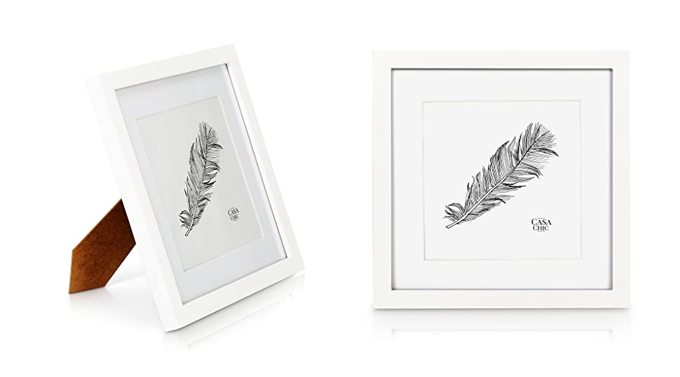 Amazon.de: Quadratischer Bilderrahmen aus Echtholz - 25 x25 cm mit ...