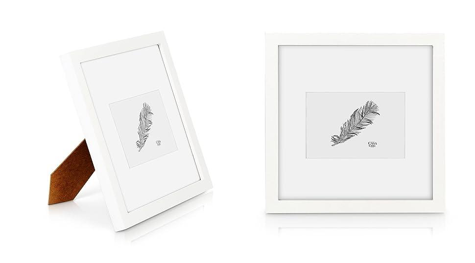 Quadratischer Bilderrahmen aus Echtholz - 25x25 cm mit Glasscheibe ...