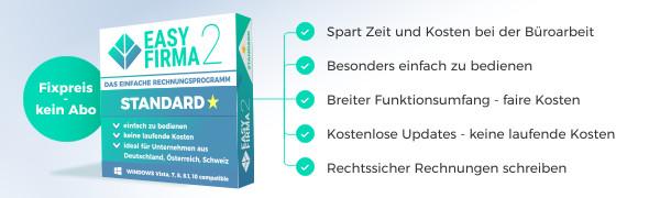 EasyFirma 2 Standard - Rechnungsprogramm