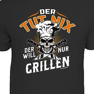 T-Shirt, Grill, grillen, BBQ, nix