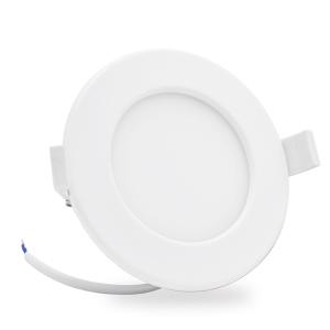 6x Lumare Punto empotrado extraplano IP44 6W para ba/ño y habitaciones h/úmedas Foco empotrable en blanco con una profundidad de instalaci/ón de solo 26 mm Con iluminador LED integrado de 450lm