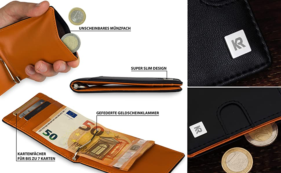 8577aa1d7075c Geldbörse mit Münzfach von KRONIFY. geldklammer münzfach geldbeutel männer  geldbörse. münzfach kleingeldfach