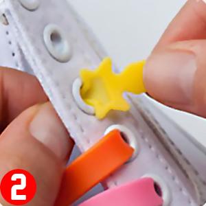 FunFitness GUMMI SCHNÜRSENKEL – Elastische Silikon Schnellverschluss, einfaches Schnüren, Aufschnüren und Reinigen – Perfekt für Kinder ältere