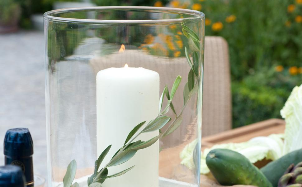 varia living windlichtglas durchmesser 12 cm h he 21 cm glaszylinder rund ohne boden. Black Bedroom Furniture Sets. Home Design Ideas