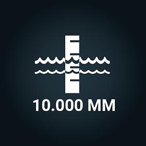 Waterkolom: 10.000.