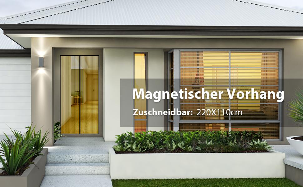 Sekey Magnet Fliegengitter Tür Vorhang Anti-Insekten