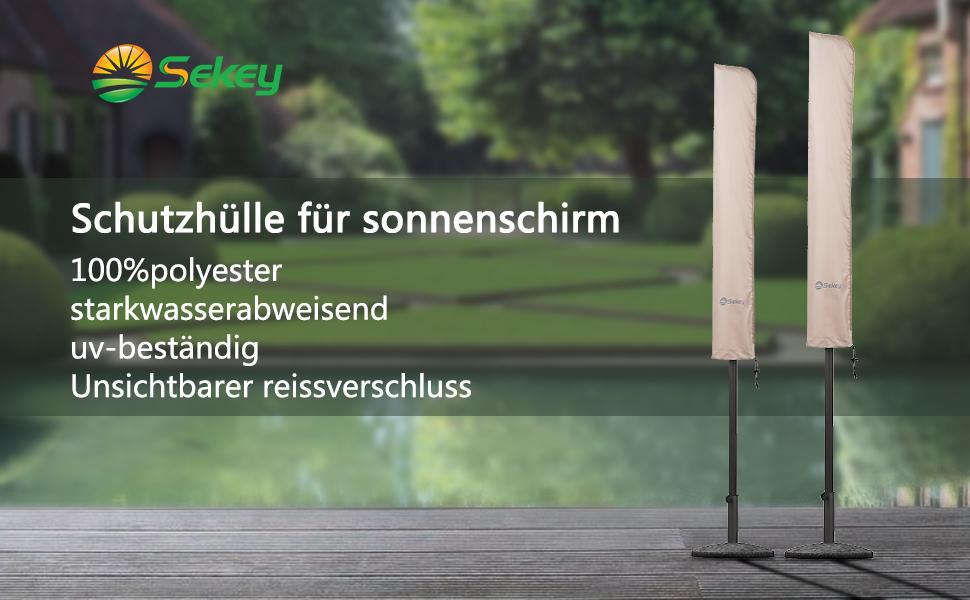 sekey schutzh lle f r 300 cm sonnenschirm abdeckhauben f r sonnenschirm 100. Black Bedroom Furniture Sets. Home Design Ideas