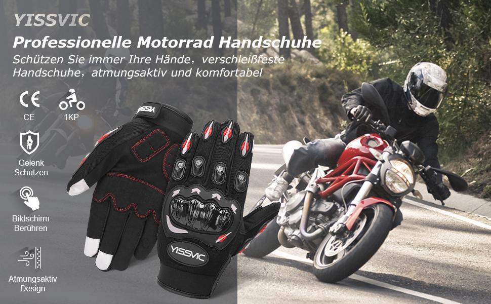 Yissvic Professionelle Motorrad Handschuhe
