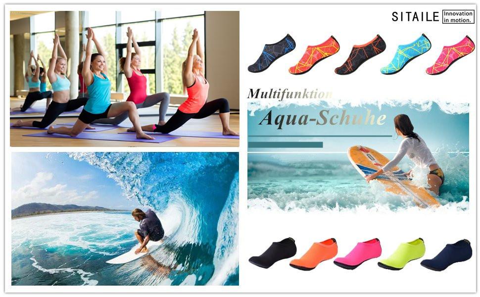 sitaile sommer aqua schuhe barfu weich wassersport yoga. Black Bedroom Furniture Sets. Home Design Ideas