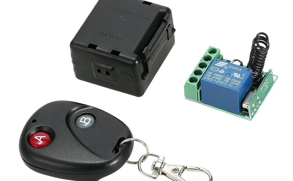 Ontvanger zender universele afstandsbediening schakelaar Smart Home 433MHz DC 12V 1CH draadloze afstandsbediening