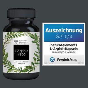 L Arginin L-Arginin Wirkung HCL Kapseln dm Vegan kaufen natural elements erfahrung potenz test base