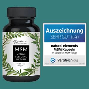 MSM Kapseln Pulver Dosierung Hund Pferd methylsulfonylmethan dm studien kaufen natural elements test
