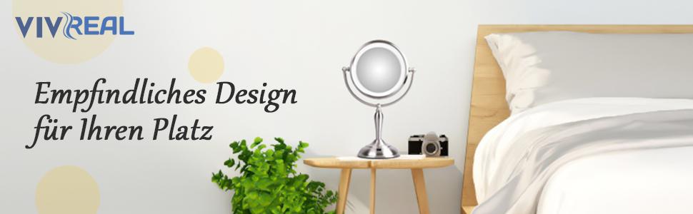 vivreal kosmetikspiegel mit licht led beleuchtet  spiegel hochwertige qualitat klasse design #11