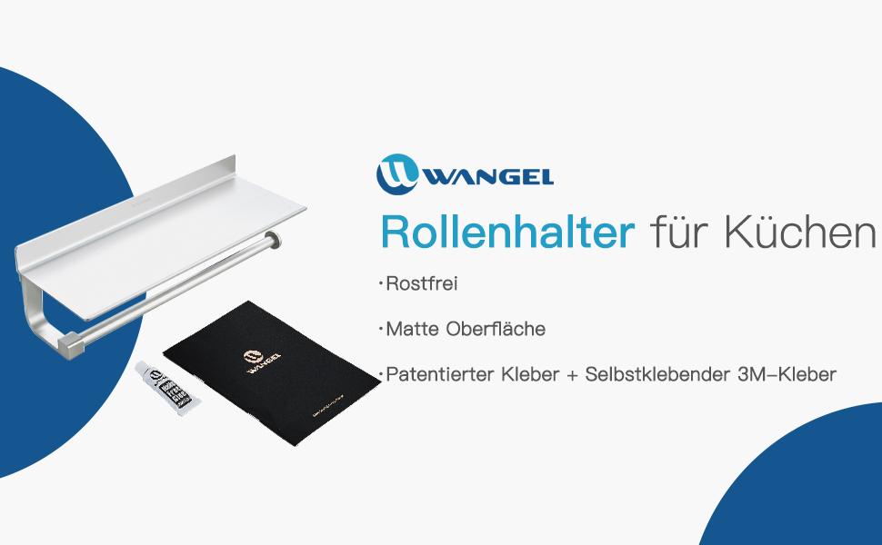 Wangel Rollenhalter Wandrollenhalter Für Küchenkrepp Ohne Bohren ...