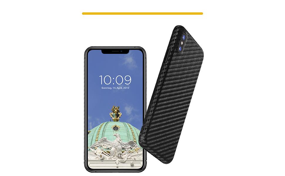 VIVERSIS Carbon Hülle für iPhone X
