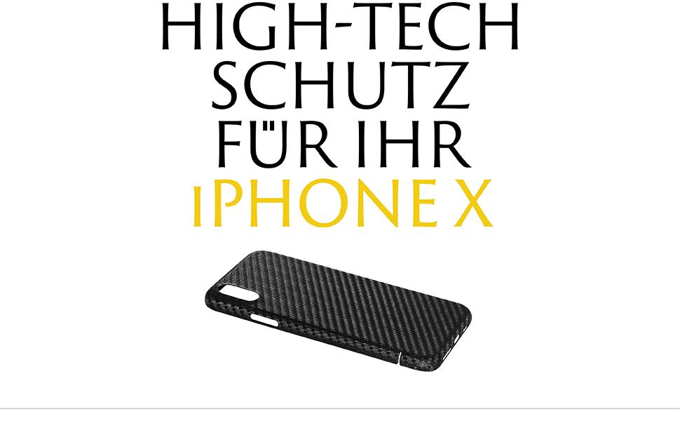 VIVERSIS Carbon Hülle - High-Tech Schutz für ihr iPhone X