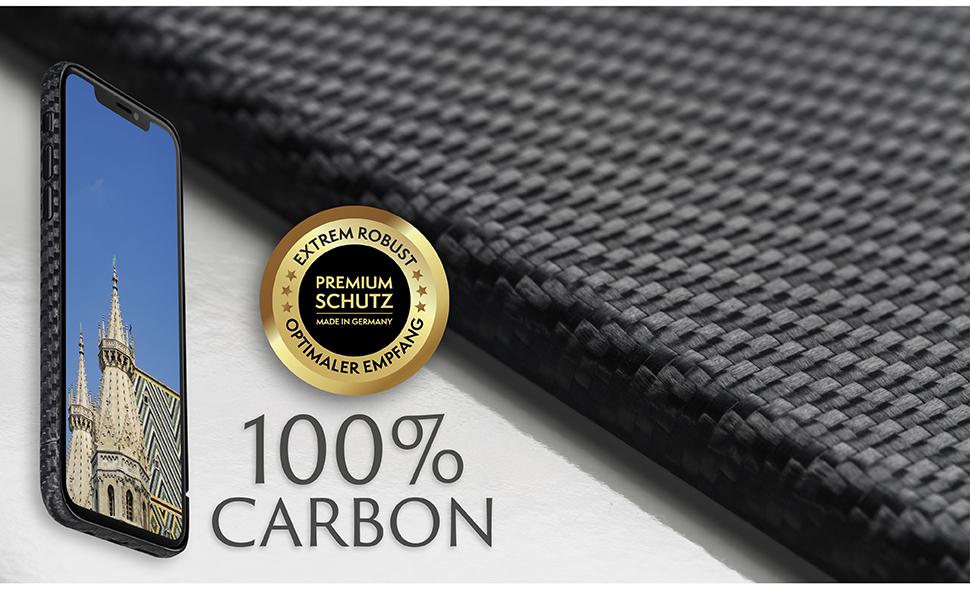 VIVERSIS Carbon Hülle - Premium Schutz für ihr iPhone X