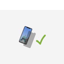 """VIVERSIS Carbon Hülle - Icon """"Kompatibel mit Display-Schutzgläsern"""""""