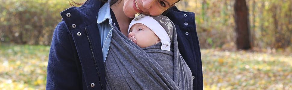 myla elastisches Baby-Tragetuch Tragetuch f/ürs Babies und Kinder bis max 15kg hoher Tragekomfort passend f/ür jede Tr/ägergr/ö/ße weich /& anschmiegsam