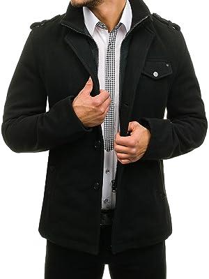 Dieser Mantel mit einreihigen Knöpfen ist warm und bequem und besitzt zwei  Fronttaschen wie auch ein hoher Kragen. 5aa30d2181