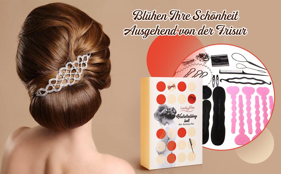 Welcher Frisur Pt Zu Mir | Haare Frisuren Set Luckyfine Dame Frisurenhilfe Flechthilfe Haare