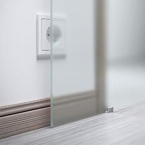 Glasschiebetur Vollflachig Satiniert 880x2035mm Schiebeturen Profi