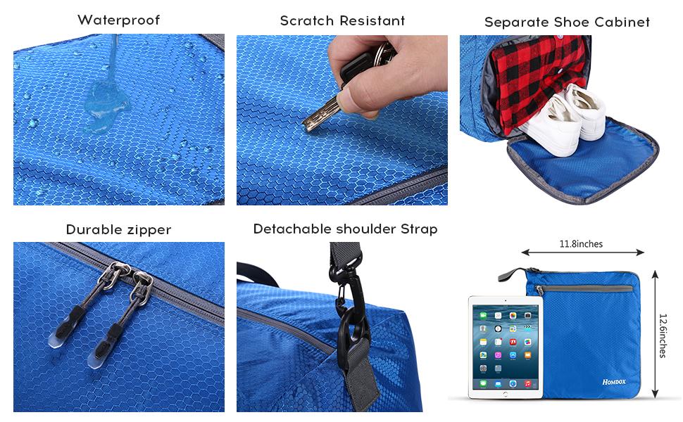 Leichter Faltbare Reise-Gepäck Handgepäck Duffel Taschen Übernachtung Taschen Sporttasche