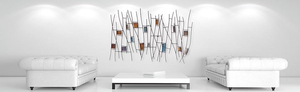 Luxus Wandskulptur Wandbild Metallbild Wanddekoration Skulptur
