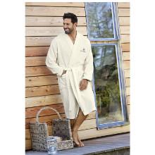 Sauna robe.