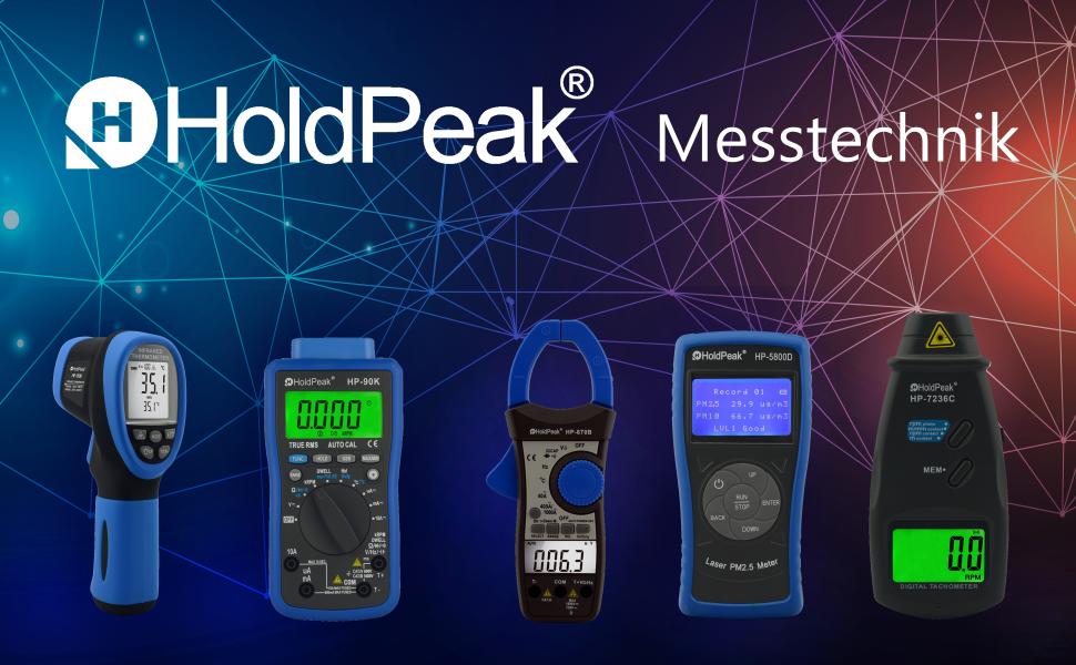 Holdpeak Hp 1300 Infrared Thermometer 16 1 50 1300 C Adjustable Emissivity Pyrometer Laser Yellow Grey Baumarkt
